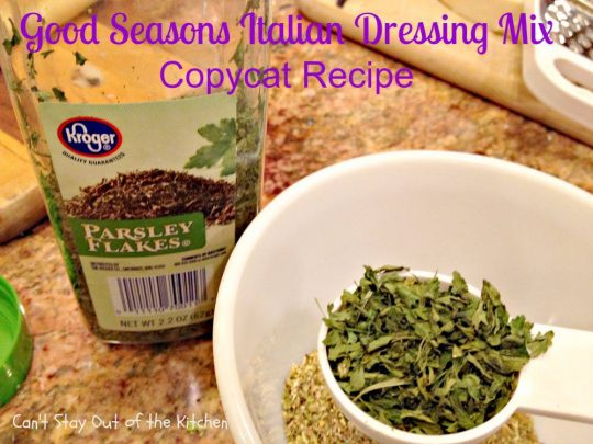 Good Seasons Italian Dressing Mix Copycat Recipe - IMG_7010