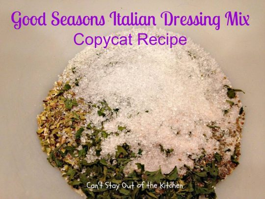 Good Seasons Italian Dressing Mix Copycat Recipe - IMG_7014