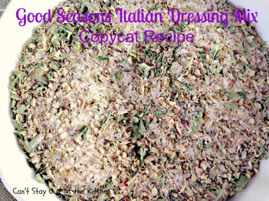 Good Seasons Italian Dressing Mix Copycat Recipe - IMG_7017