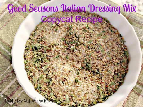 Good Seasons Italian Dressing Mix Copycat Recipe - IMG_7019
