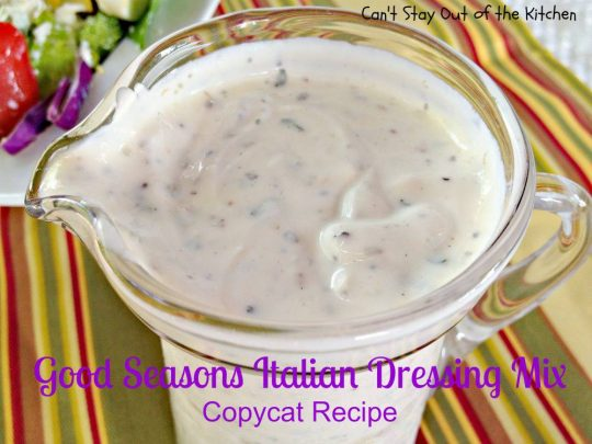 Good Seasons Italian Dressing Mix Copycat Recipe - IMG_7266