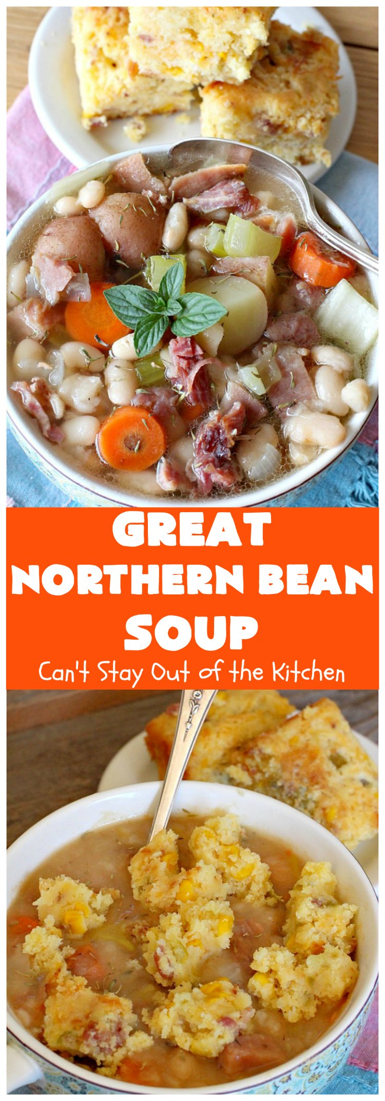 Great Northern Bean Soup | Can't Stay Out of the Kitchen