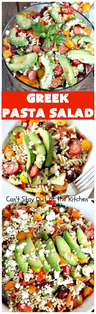 Greek Pasta Salad | Can't Stay Out of the Kitchen