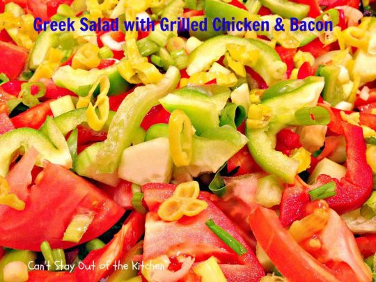 Greek Salad with Grilled Chicken and Bacon - IMG_3496