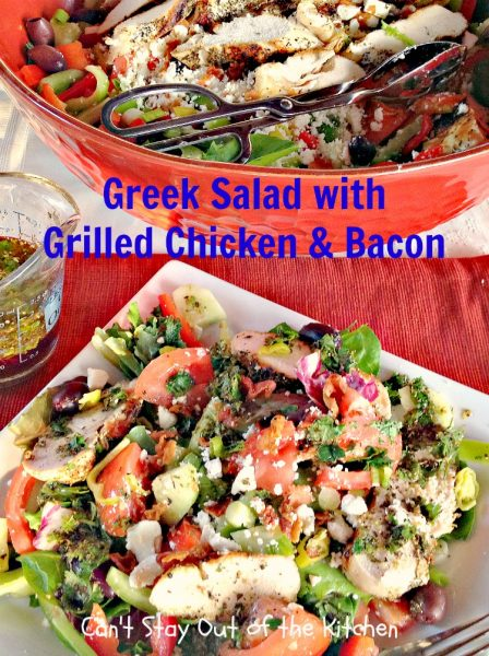 Greek Salad with Grilled Chicken and Bacon - IMG_3576