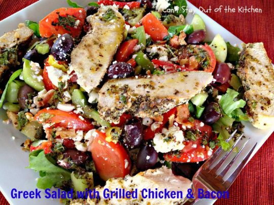 Greek Salad with Grilled Chicken and Bacon - IMG_3648