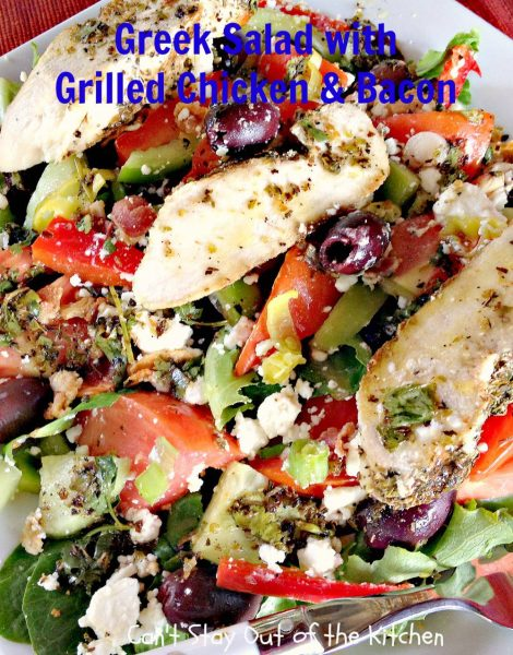 Greek Salad with Grilled Chicken and Bacon - IMG_3676
