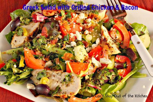 Greek Salad with Grilled Chicken and Bacon - IMG_8767