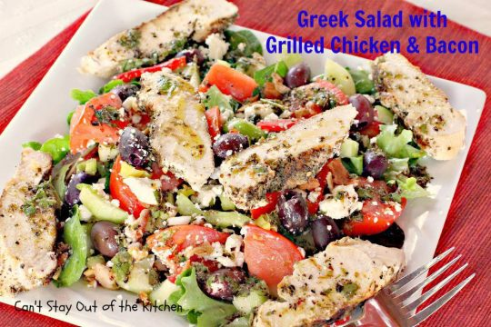 Greek Salad with Grilled Chicken and Bacon - IMG_8803