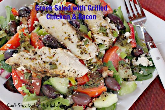 Greek Salad with Grilled Chicken and Bacon - IMG_8840