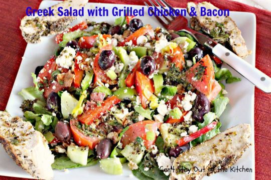 Greek Salad with Grilled Chicken and Bacon - IMG_8851