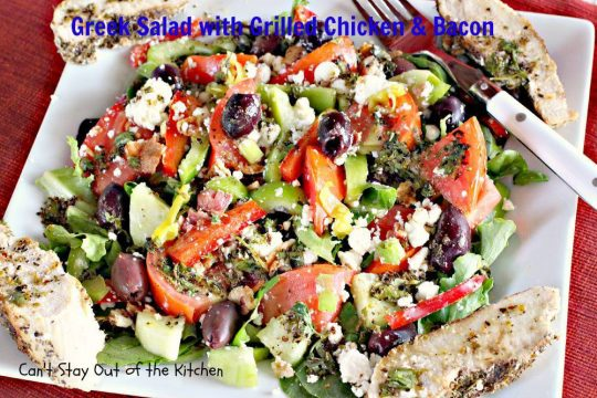 Greek Salad with Grilled Chicken and Bacon - IMG_8857