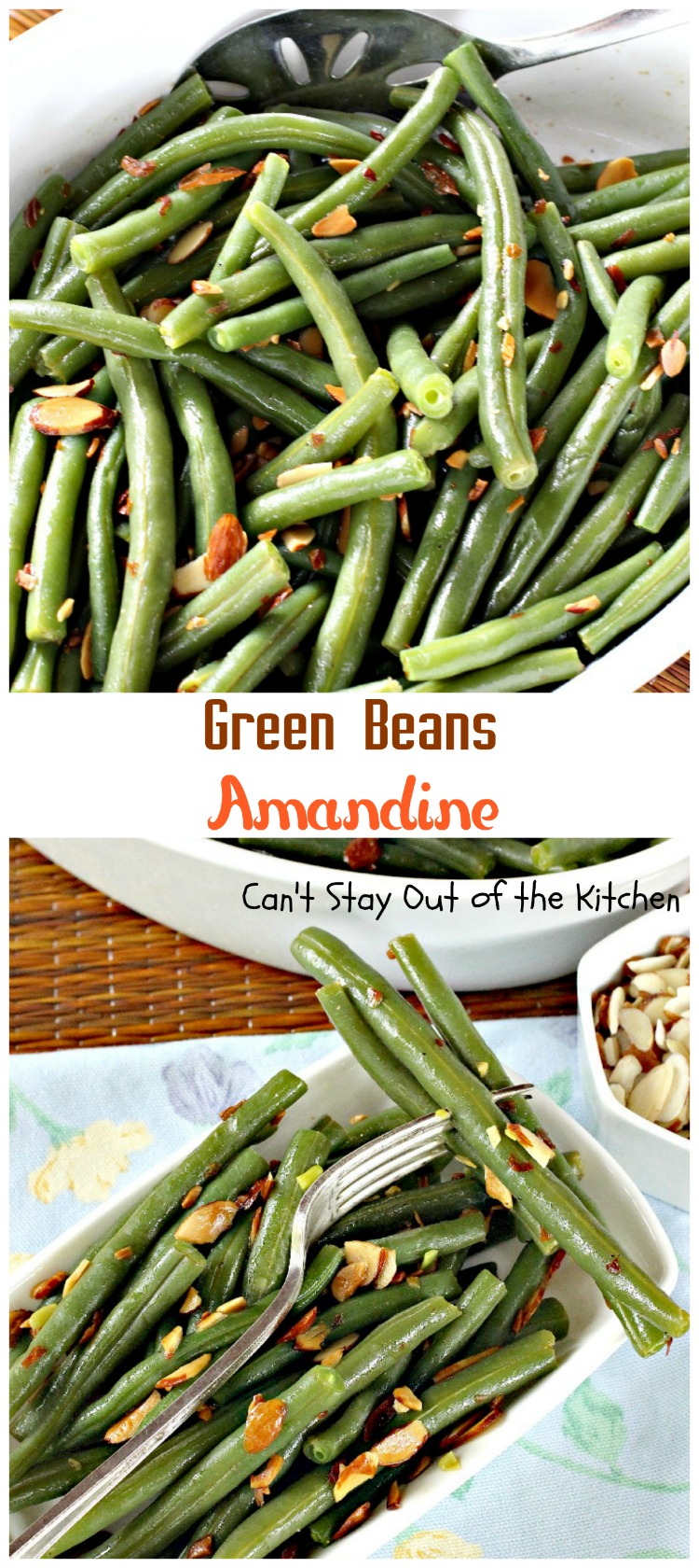 Green Beans Amandine | Can't Stay Out of the Kitchen | super quick ...