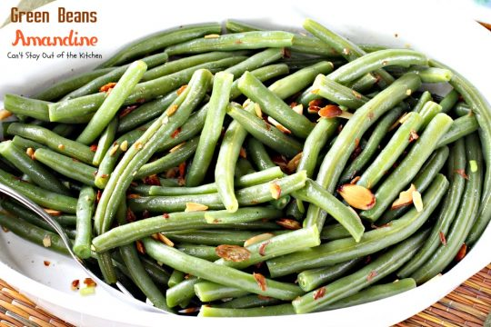 Green Beans Amandine | Can't Stay Out of the Kitchen | super quick, easy and delicious #sidedish. Healthy and low calorie, too. #greenbeans #glutenfree #vegan