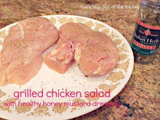 Grilled Chicken Salad with Healthy Honey Mustard Dressing - IMG_3300