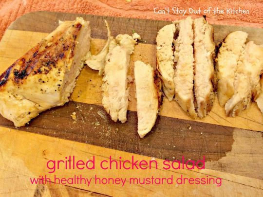 Grilled Chicken Salad with Healthy Honey Mustard Dressing - IMG_3306
