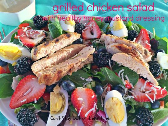 Grilled Chicken Salad with Healthy Honey Mustard Dressing - IMG_3319