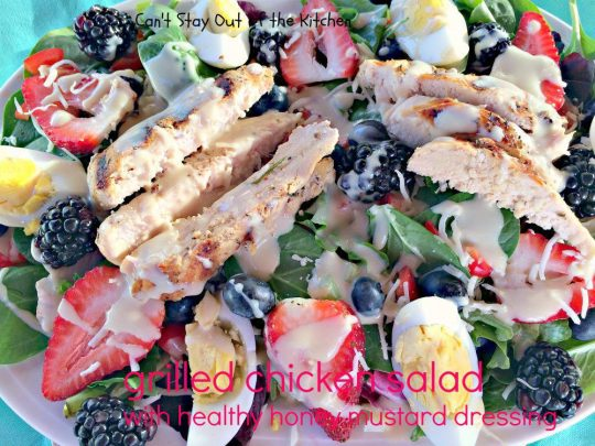 Grilled Chicken Salad with Healthy Honey Mustard Dressing - IMG_3334