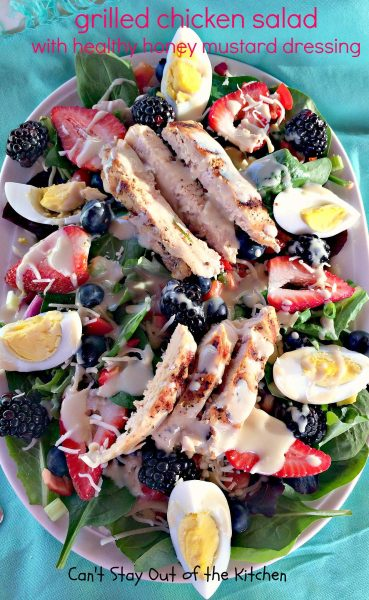 Grilled Chicken Salad with Healthy Honey Mustard Dressing - IMG_3336