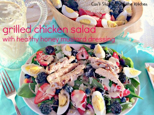 Grilled Chicken Salad with Healthy Honey Mustard Dressing - IMG_3348