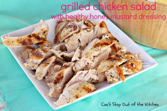 Grilled Chicken Salad with Healthy Honey Mustard Dressing - IMG_9736