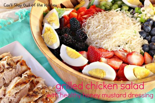 Grilled Chicken Salad with Healthy Honey Mustard Dressing - IMG_9760