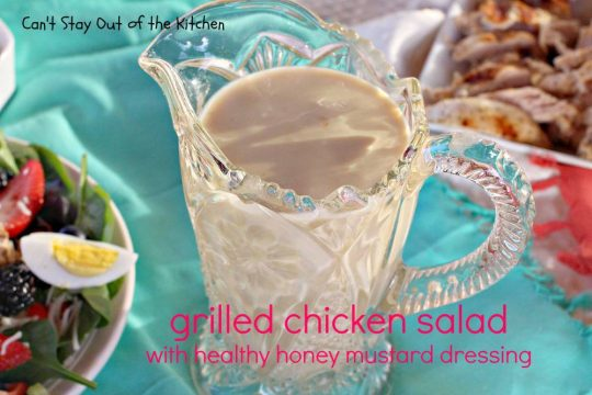 Grilled Chicken Salad with Healthy Honey Mustard Dressing - IMG_9762