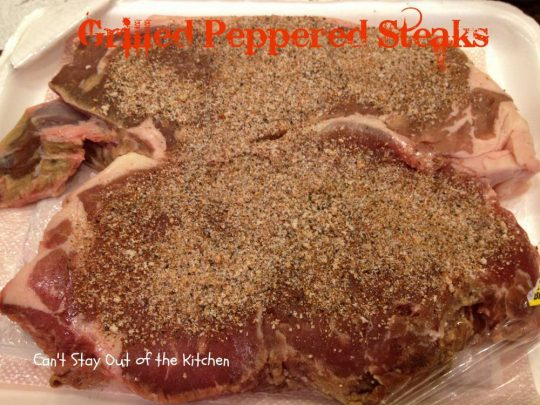 Grilled Peppered Steaks - IMG_4485