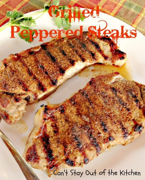 Grilled Peppered Steaks - IMG_4547