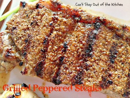 Grilled Peppered Steaks - IMG_4564