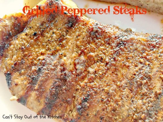 Grilled Peppered Steaks - IMG_4565