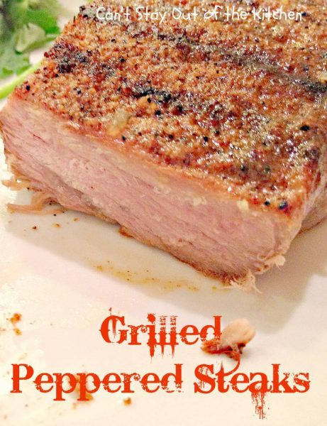 Grilled Peppered Steaks - IMG_4588