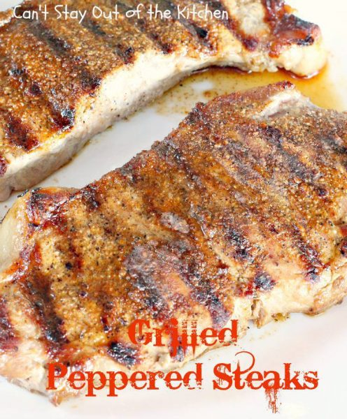 Grilled Peppered Steaks - IMG_9708