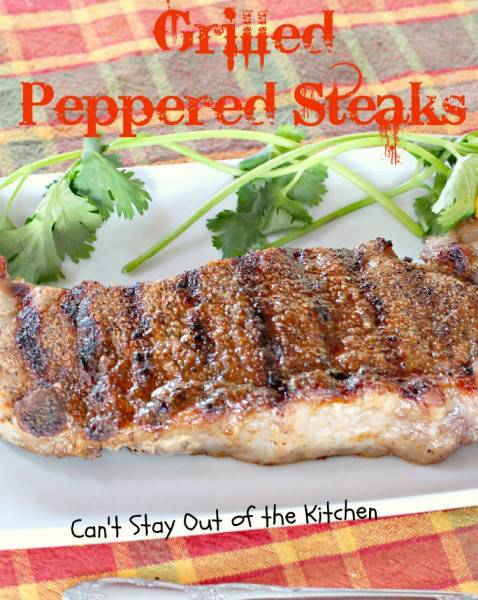 Grilled Peppered Steaks - IMG_9744