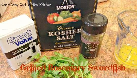 Grilled Rosemary Swordfish - IMG_4152