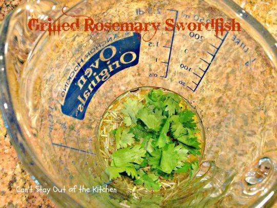 Grilled Rosemary Swordfish - IMG_4154