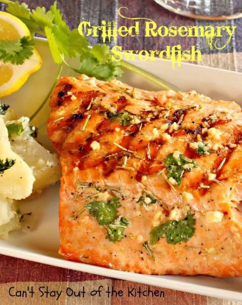 Grilled Rosemary Swordfish - IMG_9326