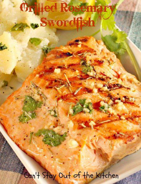 Grilled Rosemary Swordfish - IMG_9340