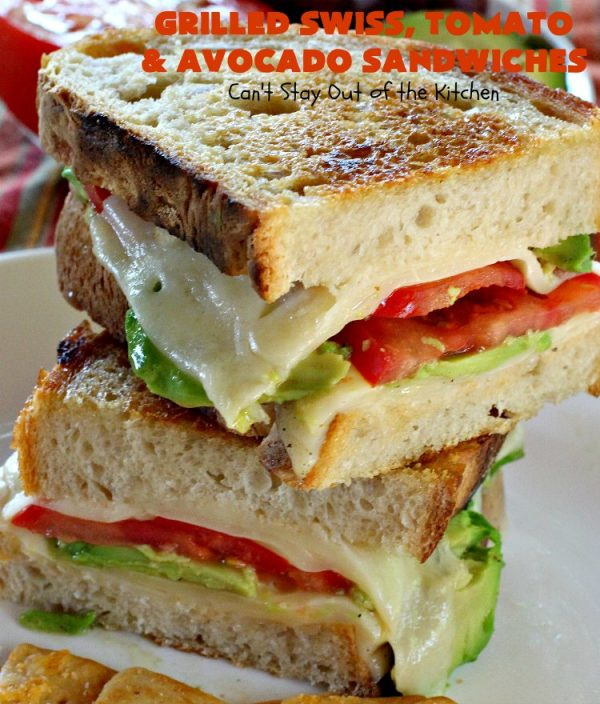 Grilled Swiss Tomato And Avocado Sandwiches Can T Stay Out Of The Kitchen
