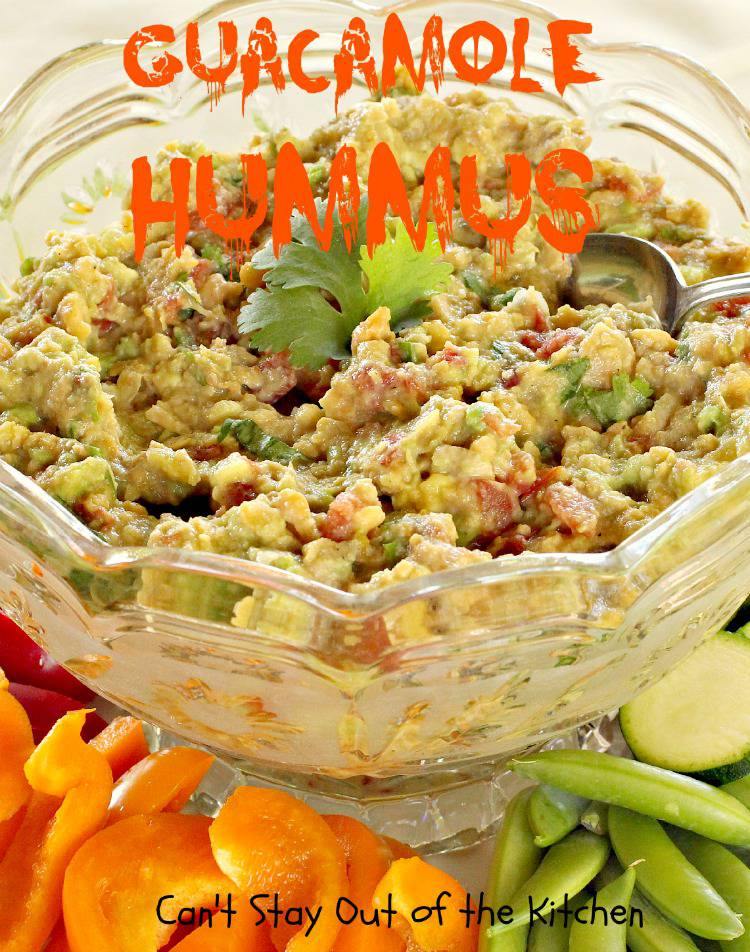 Guacamole Hummus - Can't Stay Out of the Kitchen