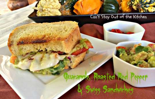 Guacamole, Roasted Red Pepper and Swiss Sandwiches - IMG_8184