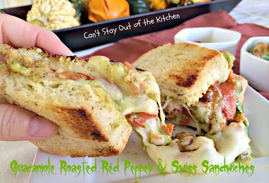 Guacamole, Roasted Red Pepper and Swiss Sandwiches - IMG_8212