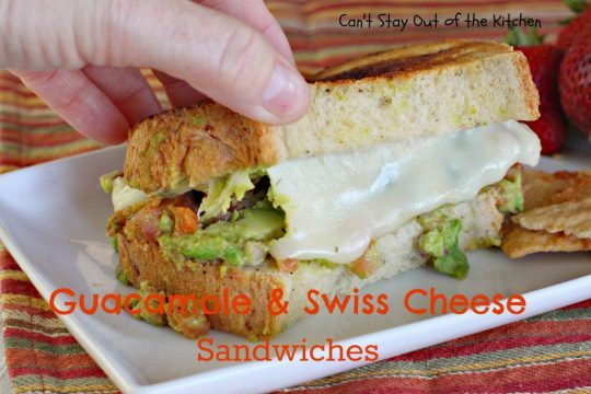 Guacamole and Swiss Cheese Sandwiches - IMG_3414