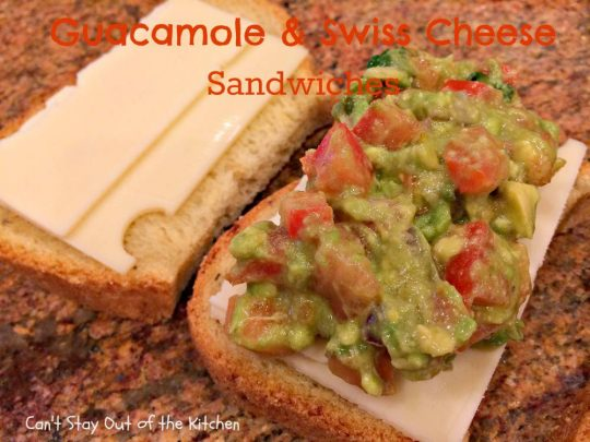 Guacamole and Swiss Cheese Sandwiches - IMG_8105
