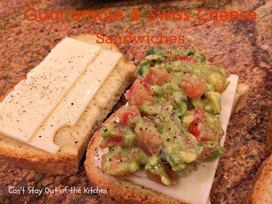 Guacamole and Swiss Cheese Sandwiches - IMG_8106