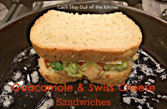 Guacamole and Swiss Cheese Sandwiches - IMG_8107