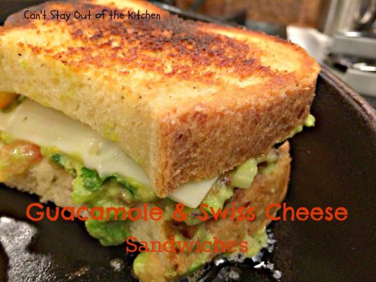 Guacamole and Swiss Cheese Sandwiches - IMG_8113