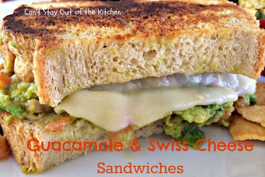 Guacamole and Swiss Cheese Sandwiches - IMG_8118