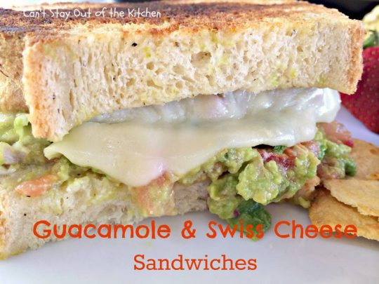 Guacamole and Swiss Cheese Sandwiches - IMG_8134
