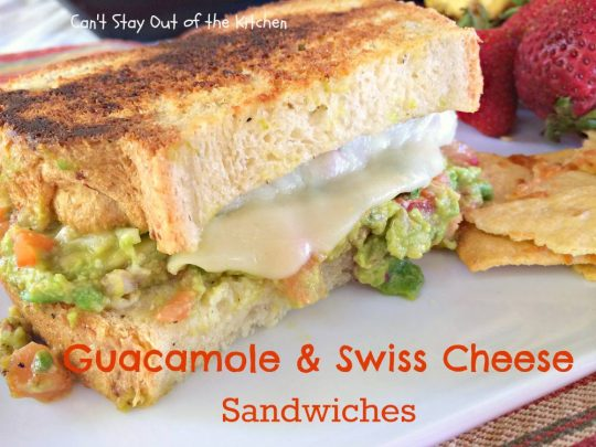 Guacamole and Swiss Cheese Sandwiches - IMG_8137